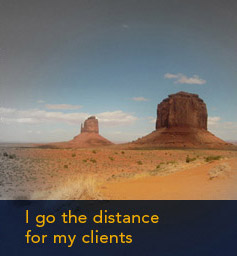 I go the distance for my clients